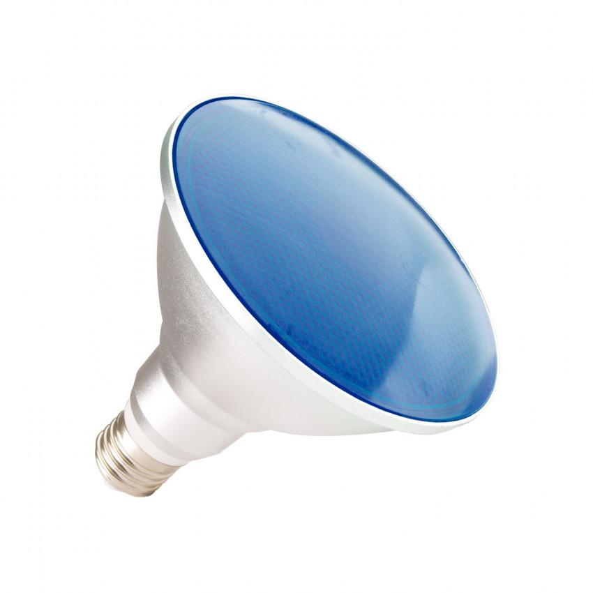 Bombilla LED E27 PAR38 15W Waterproof IP65 Luz Azul