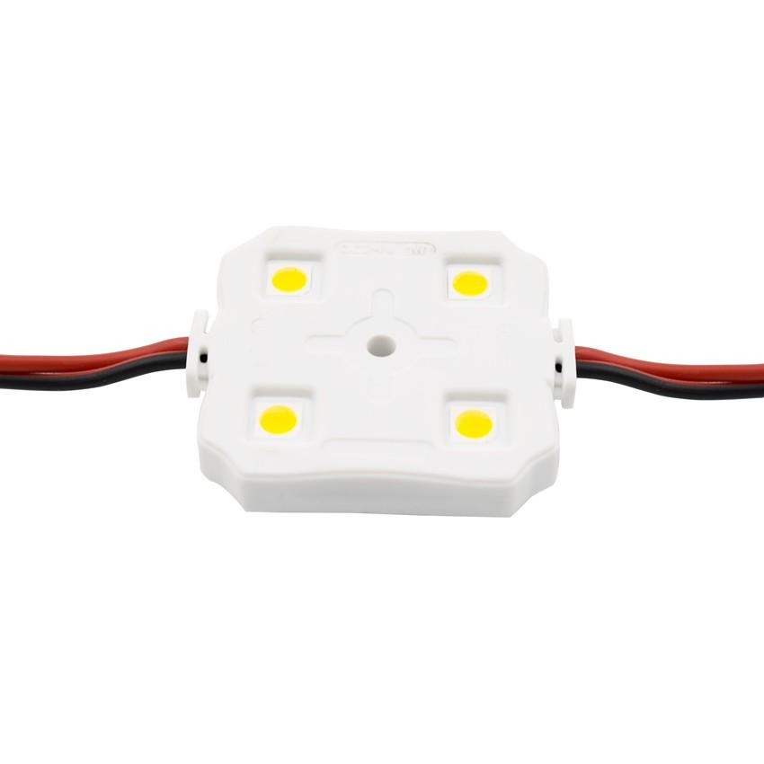 Cadena de 20 Módulos Cuadrados de 4 LEDs SMD5050 24V 1W