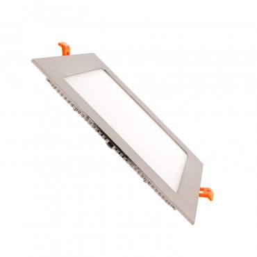 Placa LED Quadrada SuperSlim 18W moldura Prata