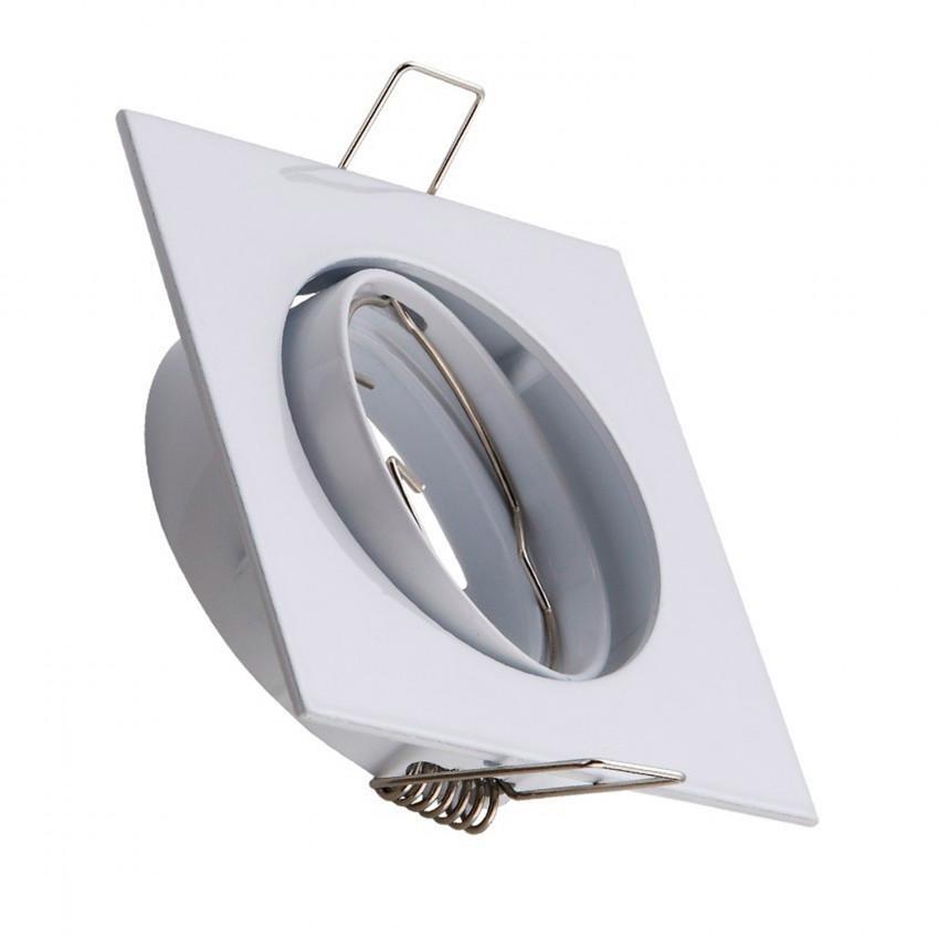 Aro Downlight Quadrado Basculante para Lâmpada LED GU10/GU5.3