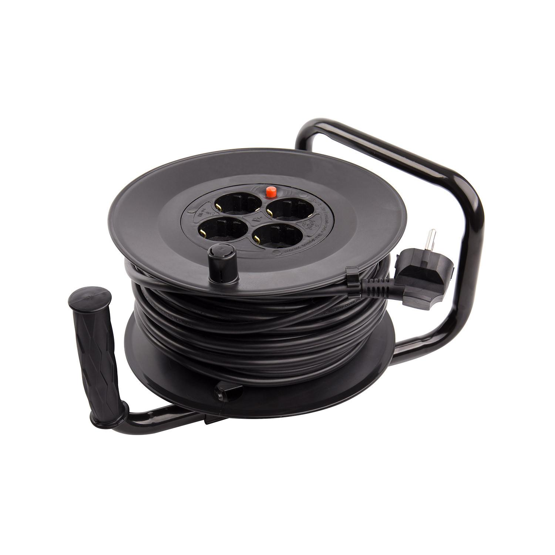 Carrete-Alargador-de-Cable-25m-Liso-3x1-5-mm-Componentes-Electricos miniatura 11