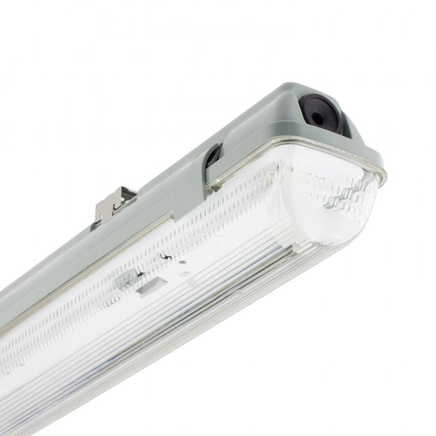 Armadura Hermética para um Tubo de LED 600mm PC/PC Conexão Uni-Lateral