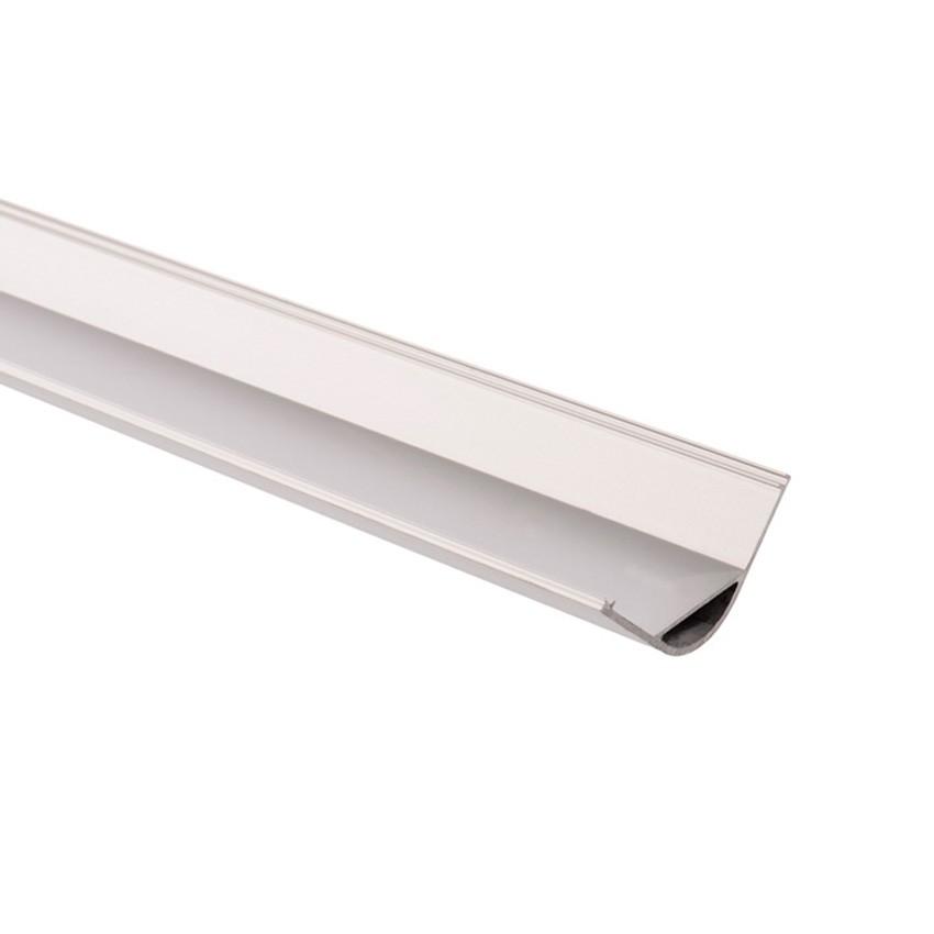 Perfil de Alumínio para Esquinas Redondo 1m para Fita LED