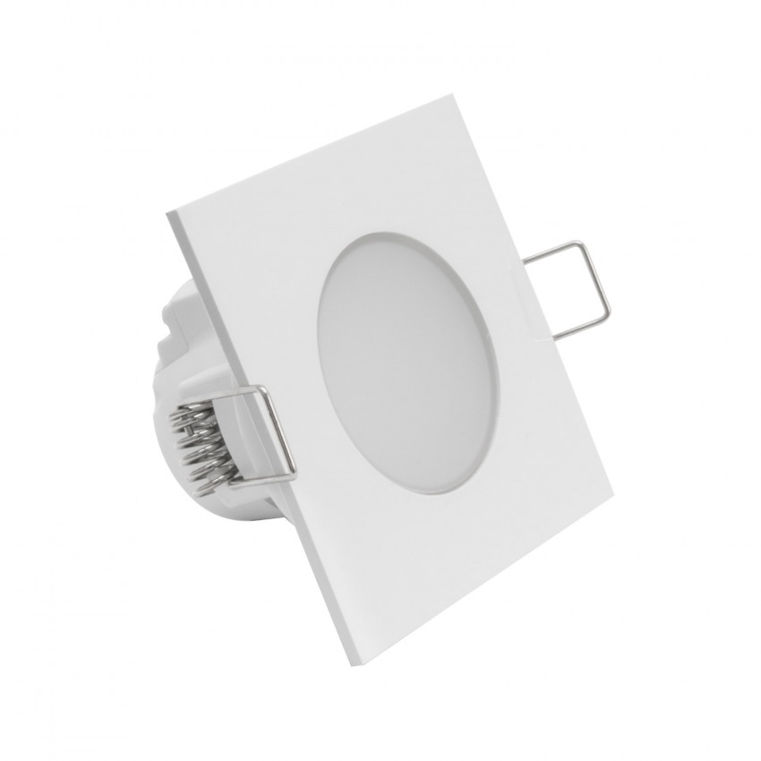 Downlight LED Quadrado Waterproof IP54 5W Corte Ø 65 mm