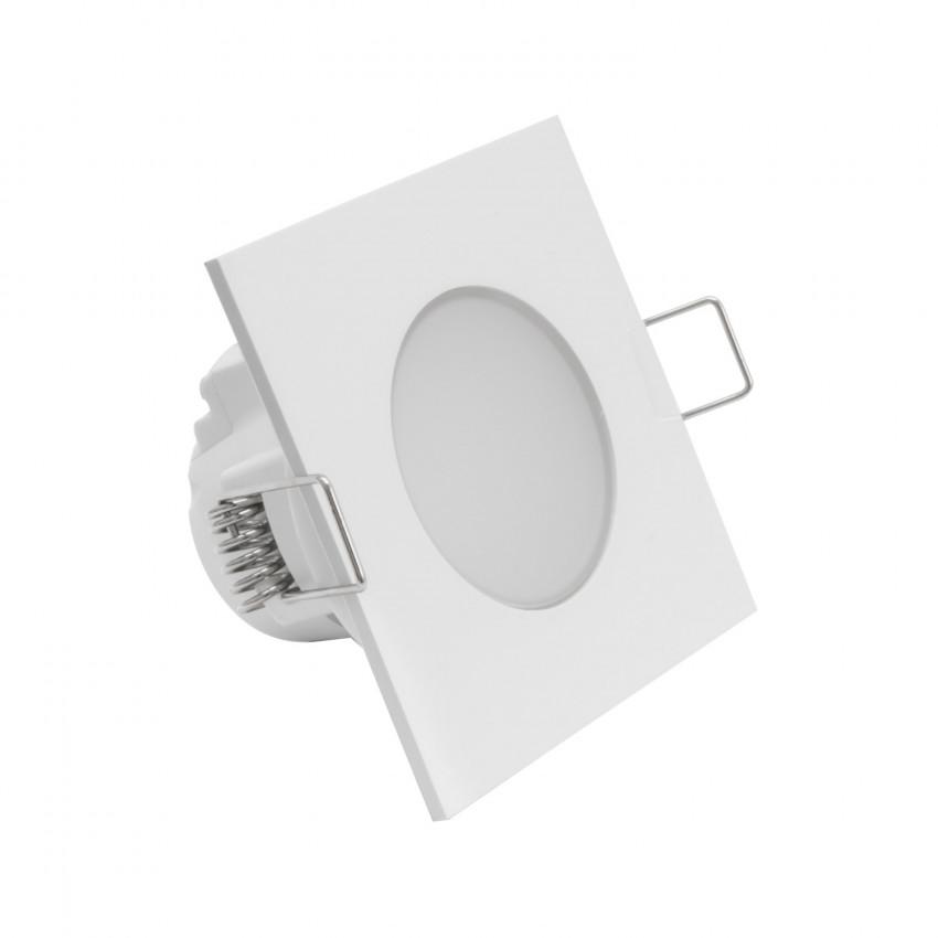 Downlight LED Quadrado Waterproof IP54 5W Corte Ø 65 mm