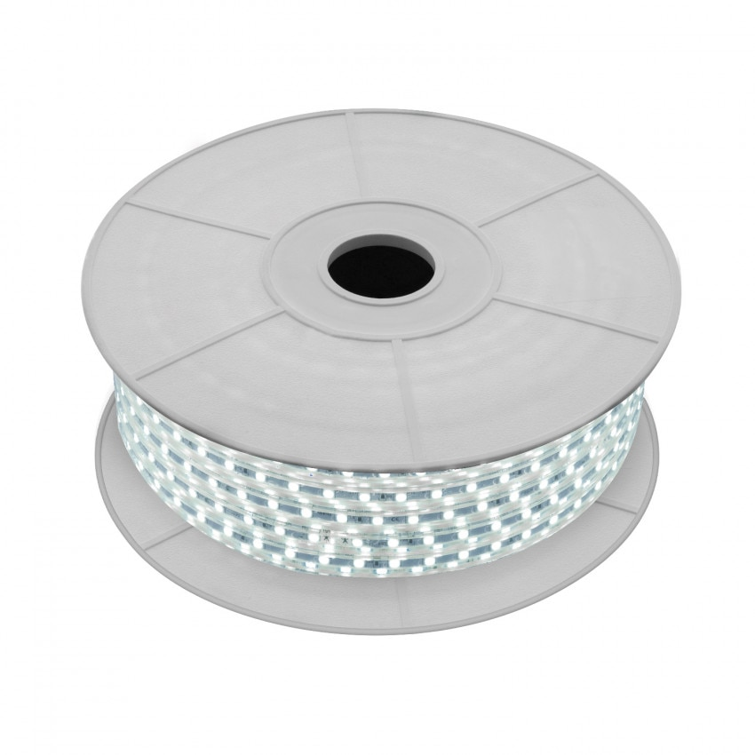 Bobina de Tira LED Regulable 220V AC 60 LED/m 50m Blanco Frío IP65 Corte a los 100cm
