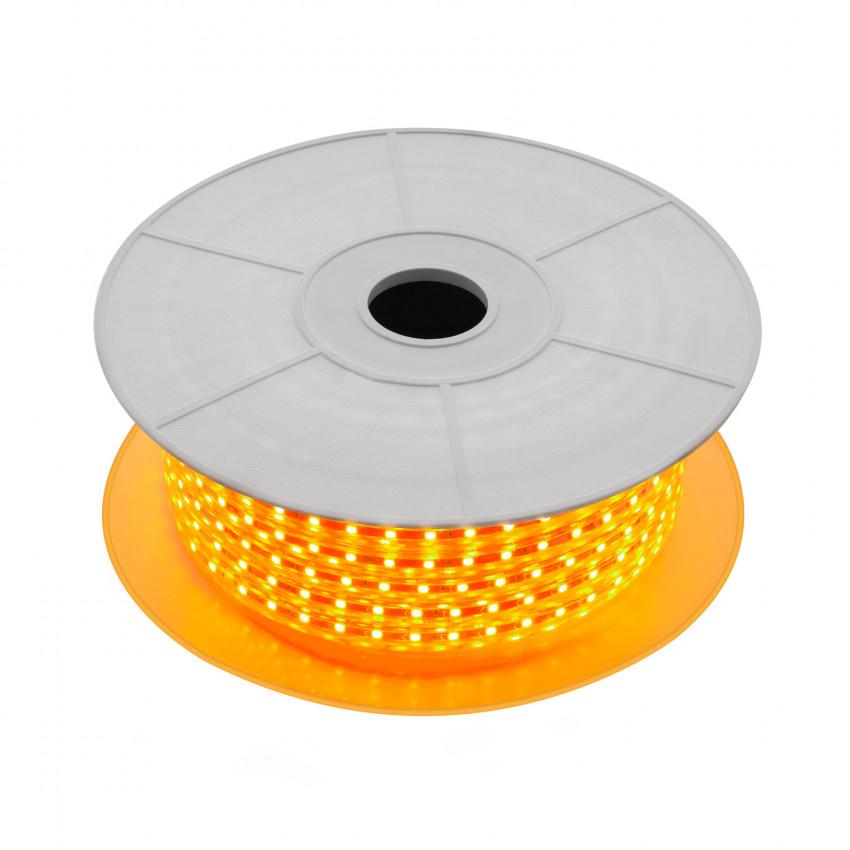 Rolo de Fita LED 220V AC SMD5050 60 LED/m Laranja (50 Metros)