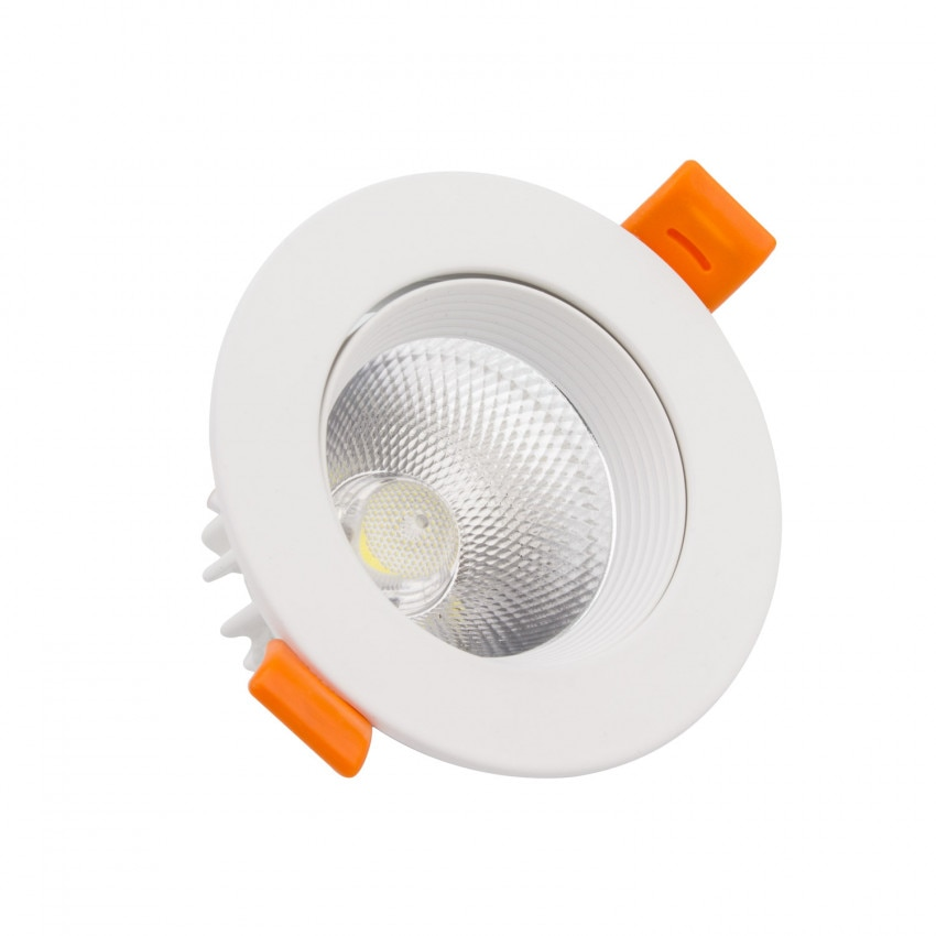 Foco Downlight LED 15W COB Direccionable Circular (UGR19) Blanco Corte Ø 110 mm