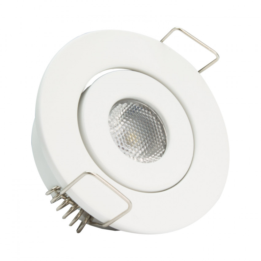 Foco Downlight LED 1W COB Direccionable Circular Blanco Corte Ø 45 mm