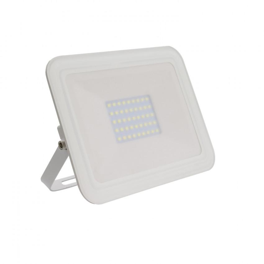 Foco Proyector LED 30W 120lm/W IP65 Slim Cristal Blanco
