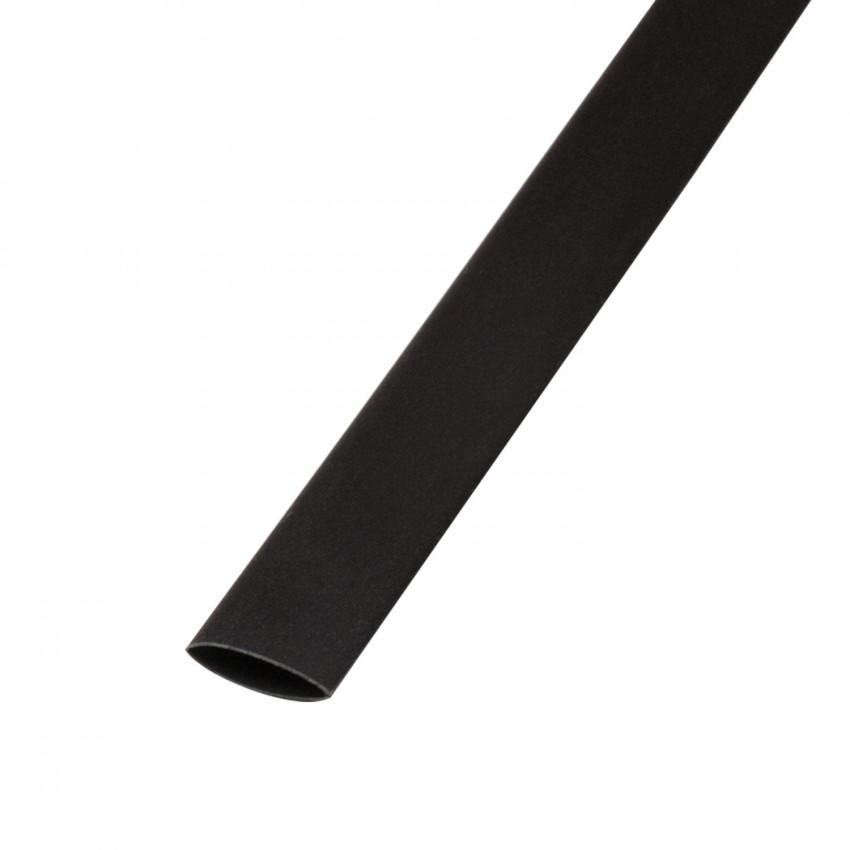 Tubo Termoretráctil Preto Contração 3:1 9mm 1 metro