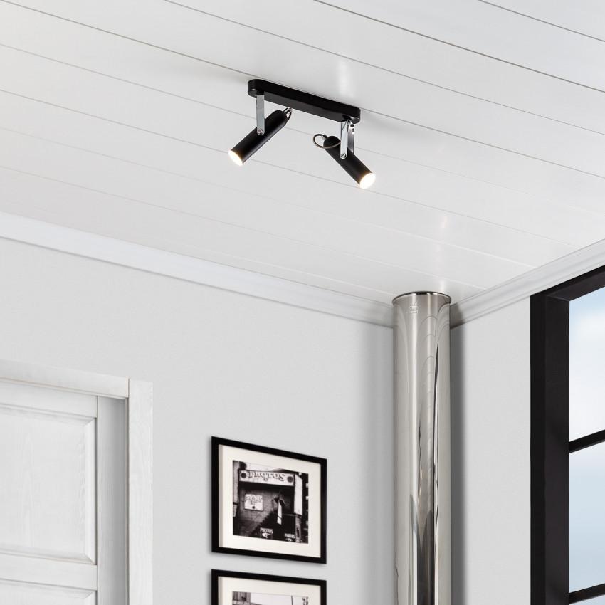 Lámpara de Techo LED Orientable Big Bari 2 Focos 8W