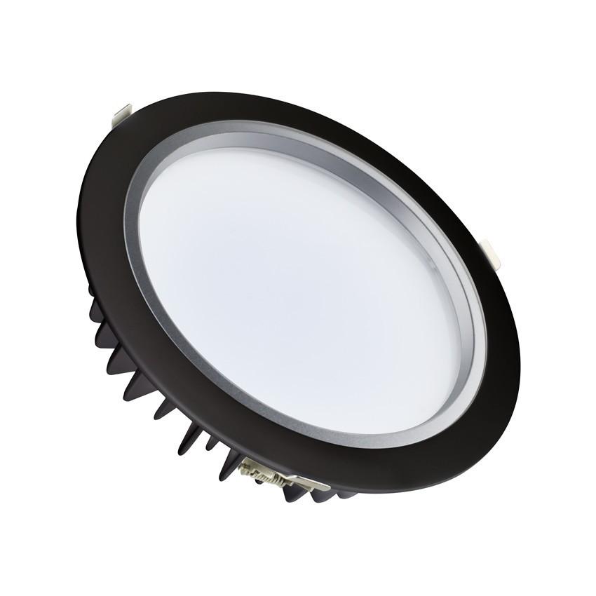 Downlight LED 40W SAMSUNG 120lm/W Negro LIFUD Corte Ø 220 mm