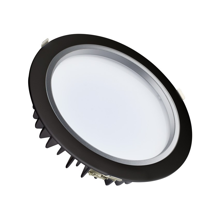 Downlight LED SAMSUNG 120lm/W Preto 40W LIFUD Corte Ø 220 mm
