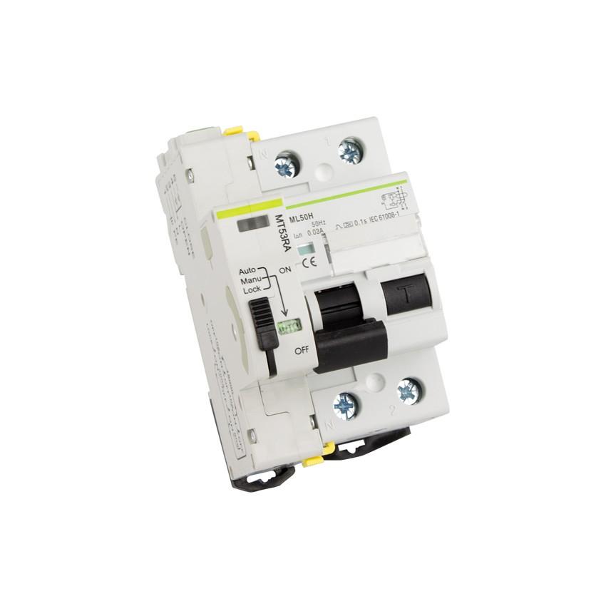 Interruptor Diferencial Rearmable Compacto MAXGE 2P-30mA-10kA