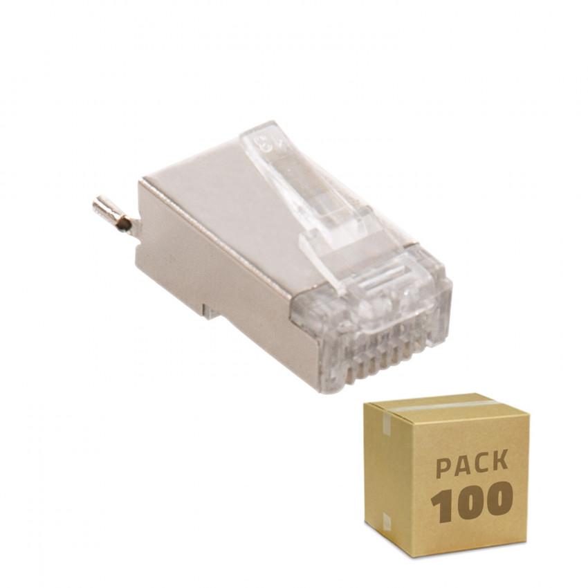 Pack 100 Unidades RJ45 FTP Blindado para Exterior