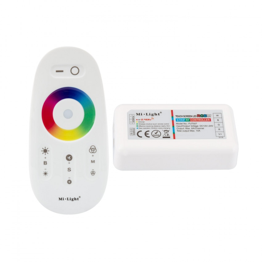 Controlador Táctil LED RGBW 12/24VDC, Dimmer por Control Remoto RF