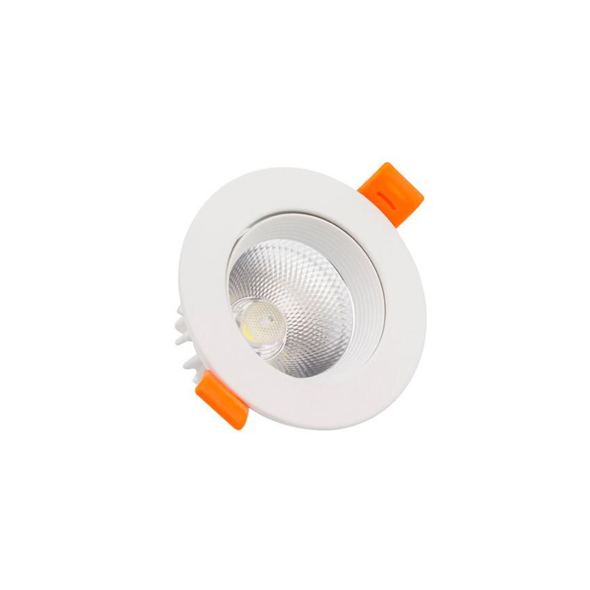 Foco LED Downlight LED 5W COB Direcionável Circular (UGR19) Branco Corte Ø 70 mm CRI92 Expert Color