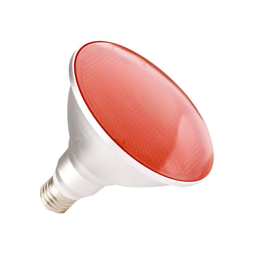 Bombilla LED E27 PAR38 15W Waterproof IP65 Luz Roja