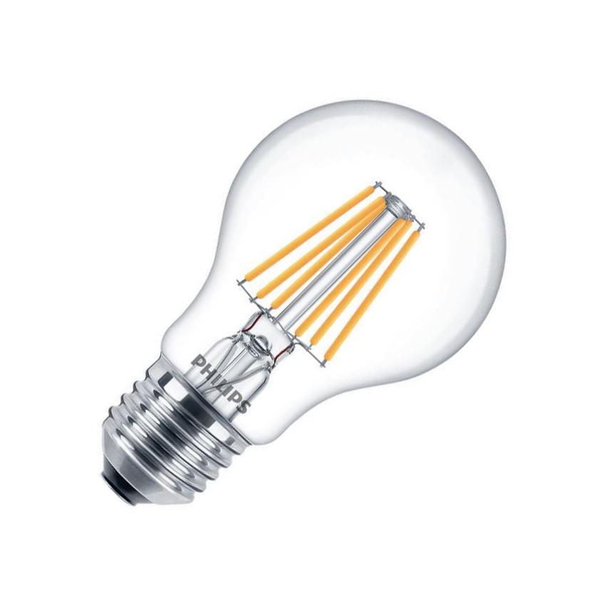 Bombilla LED E27 A60 Regulable Filamento PHILIPS CLA Classic 7.2W