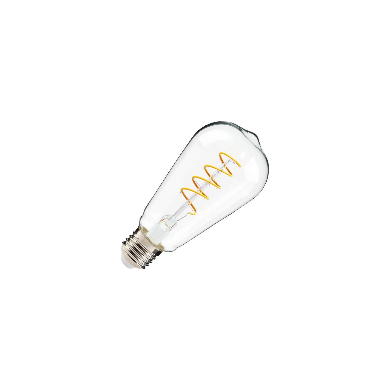 Bombilla LED E27 Regulable Filamento Tear ST64 4W