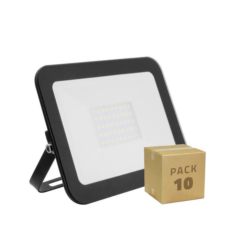 Pack Foco LED Slim Cristal 30W Negro (10x8.99€)
