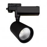 Foco LED Mallet 30W Negro para Carril Trifásico