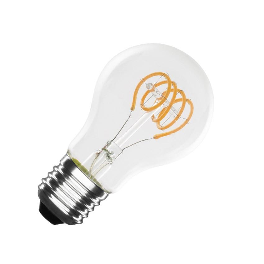 Lâmpada LED de filamento espiral regulável E27 Classic A60 4W