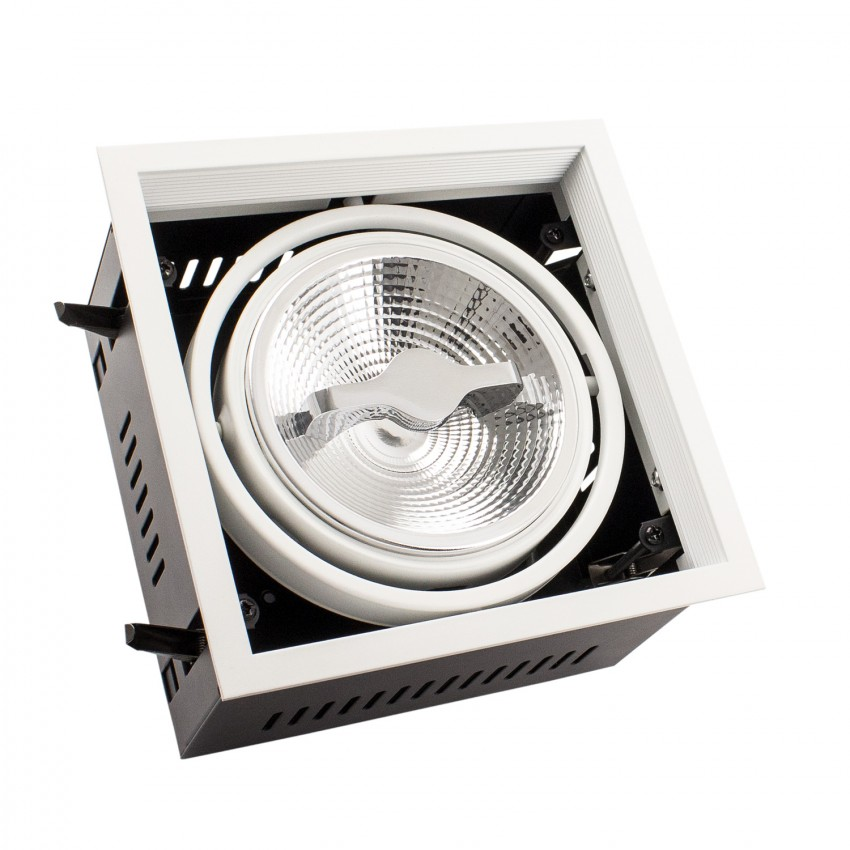 Foco Downlight LED 15W CREE-COB Direccionable AR111 Regulable Corte 155x155 mm