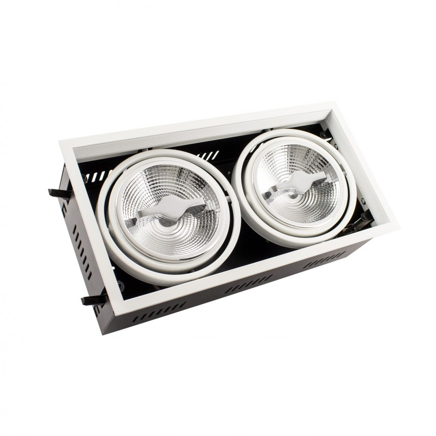 Foco Downlight LED CREE-COB Direccionável AR111 30W Regulável Corte 315x155 mm
