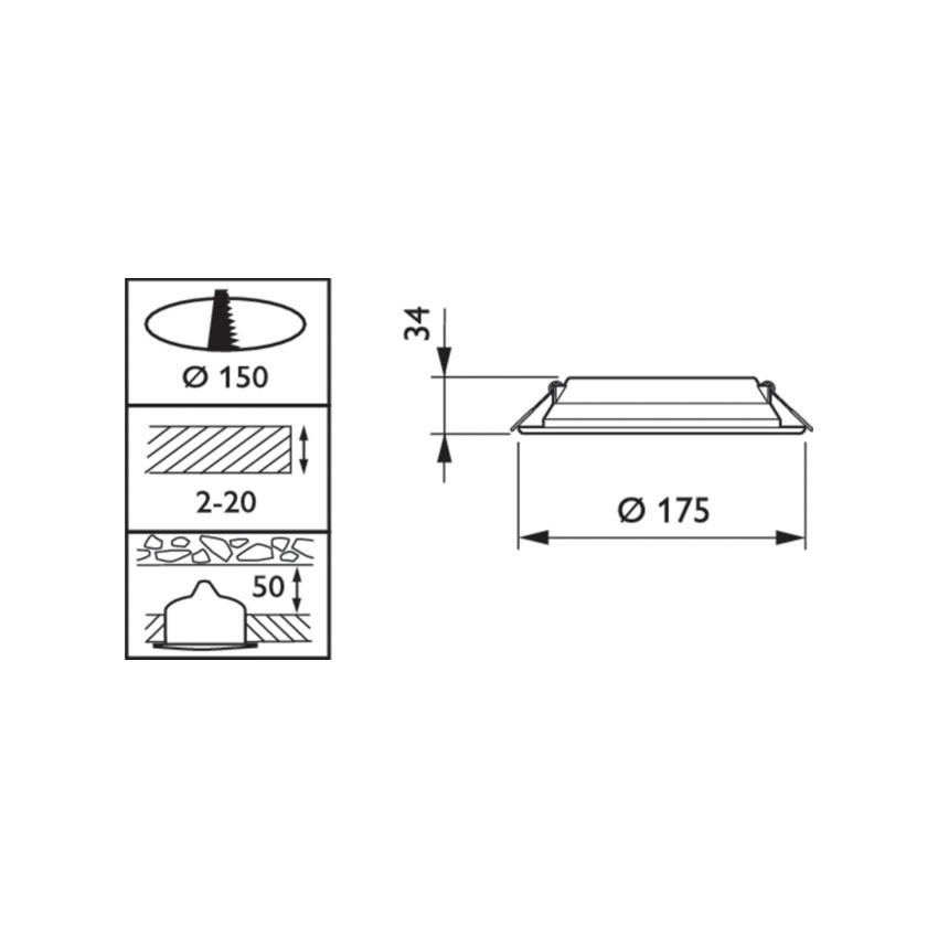 Downlight LED Philips Slim Ledinaire 11W DN065B