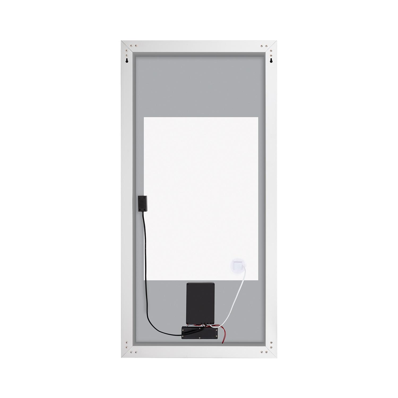 espejo decorativo led con reloj digital integrado panama 100w - Espejo Decorativo LED con Reloj Digital Integrado y Interruptor Táctil Panamá