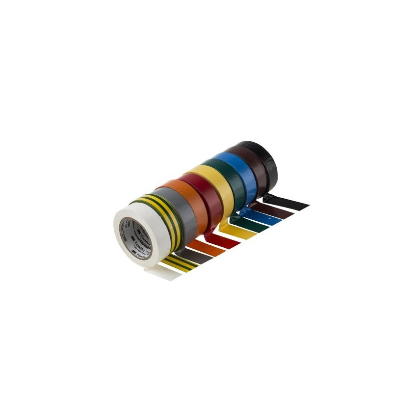 Cinta Aislante Temflex 1300 3M PVC 19mm x 20m