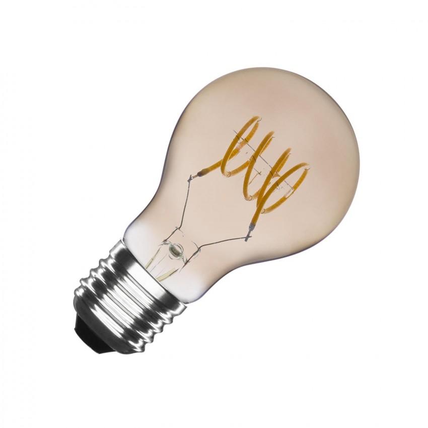 Lâmpada LED E27 Regulável Filamento Espiral Silver Classic A60 4W