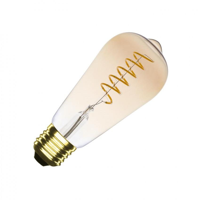 Bombilla LED E27 Regulable Filamento Gold Tear ST64 4W