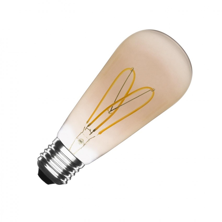Bombilla LED E27 Regulable Filamento Gold Big Lemon ST64 4W