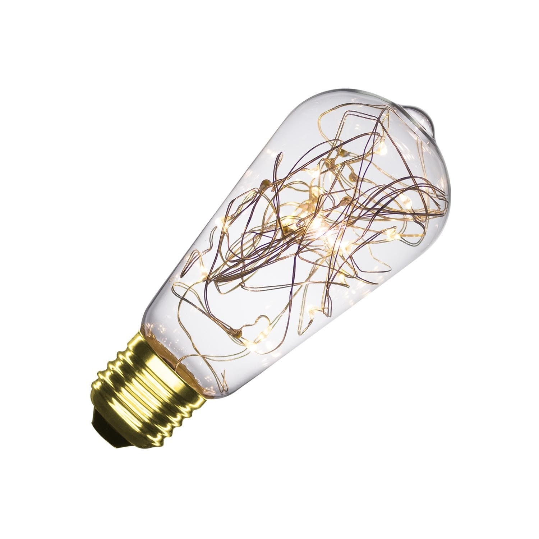 Bombilla LED E27 Regulable Filamento Hada ST58 1W
