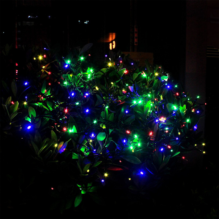 Grinalda Fio LED com Carregor Solar 12m