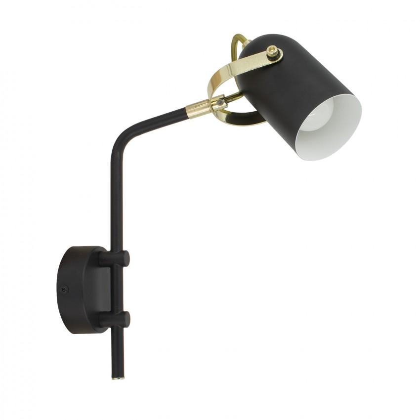 Lámpara Orientable Brazo Superior Cano 1 Foco Negro