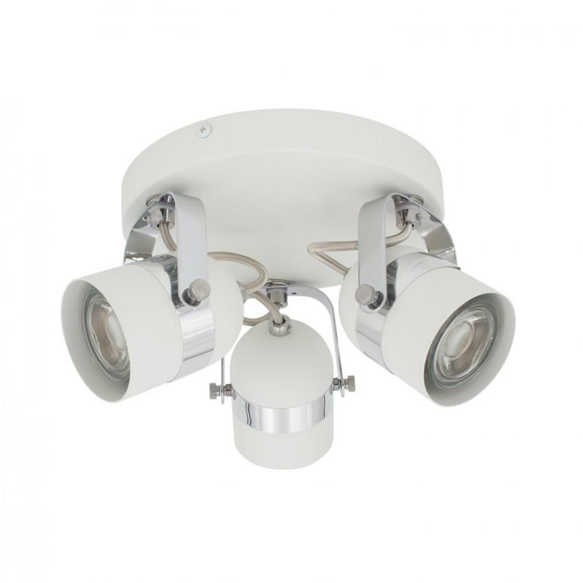 Lámpara de Techo Circular Orientable Sinner 3 Focos Blanco