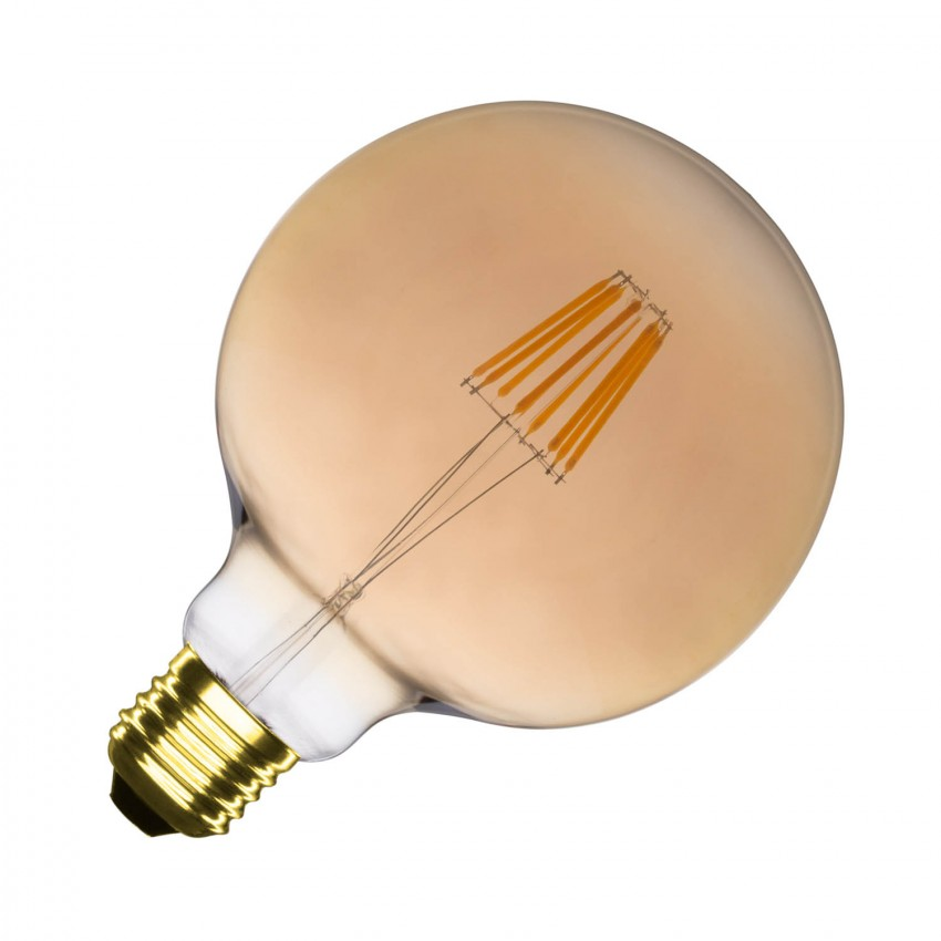 Bombilla LED E27 Regulable Filamento Gold Supreme G125 6W