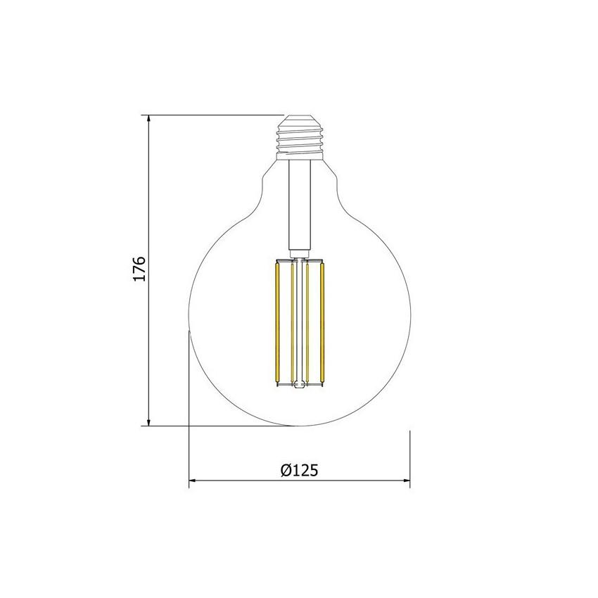 Lâmpada LED E27 Regulavel Filamento Reflect Supreme 8W