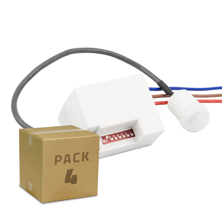 Pack Detector de Movimiento PIR 120º Mini (4 un)