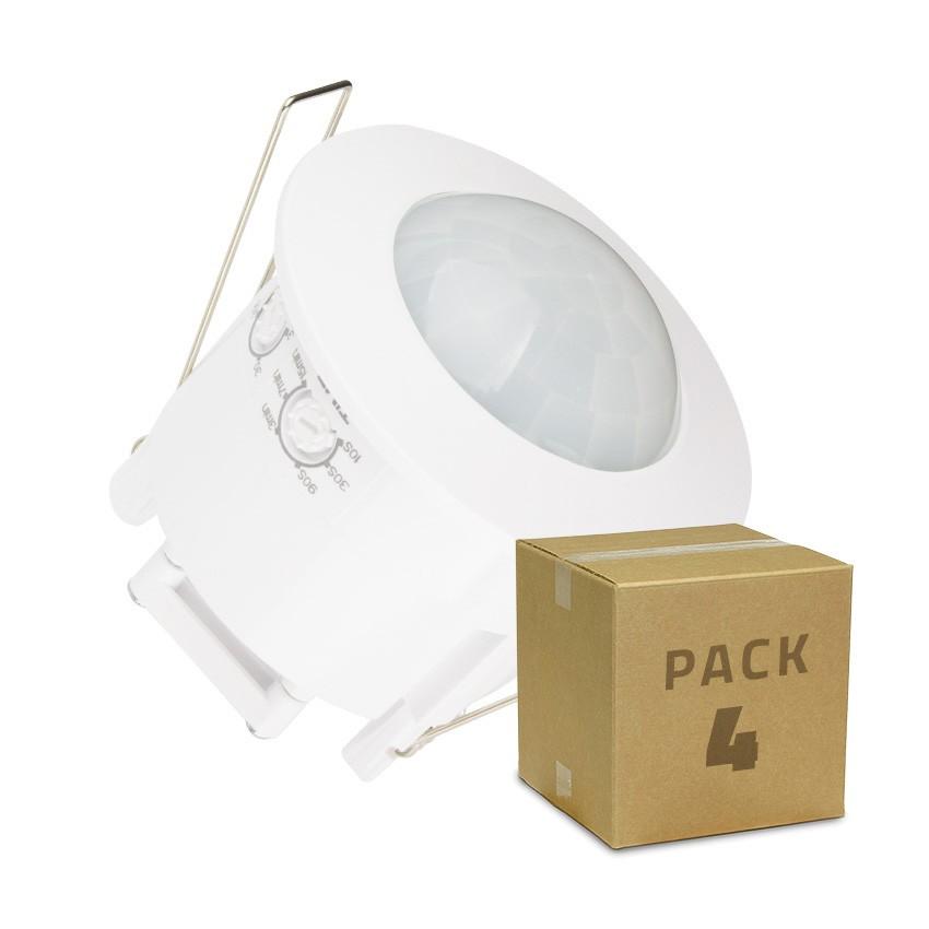 Pack Detector de Movimiento PIR 360º Empotrable (4 un)