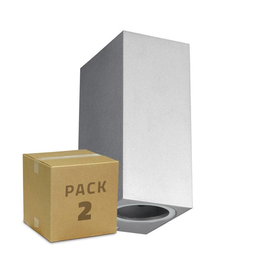 Pack Aplique Miseno Plata Iluminación Doble Cara (2 un)