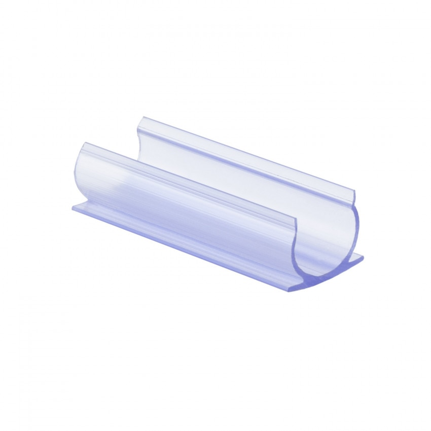 Clip de PVC Fijación para Neón LED Flexible Circular 360 Monocolor