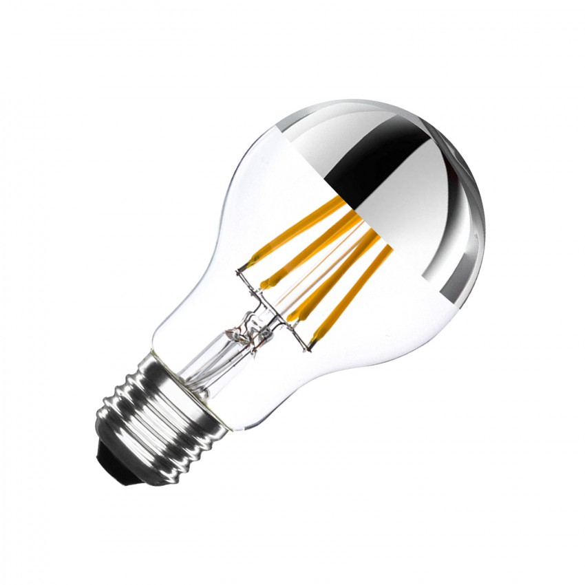 Bombilla LED E27 Regulable Filamento Chrome Reflect Classic A60 3.5W