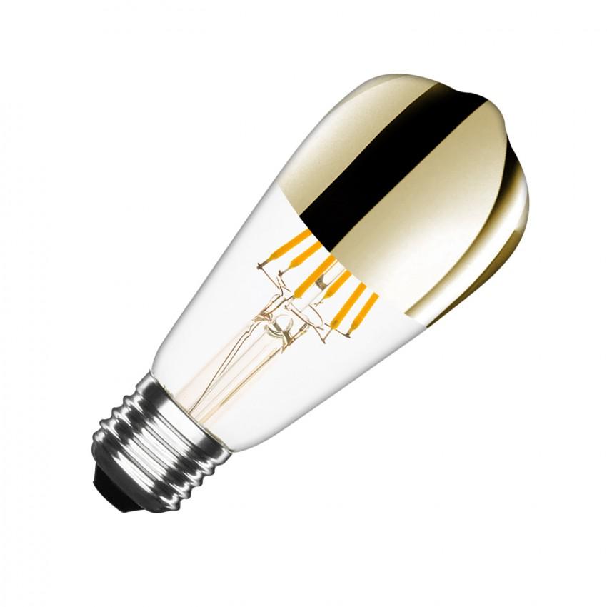Bombilla LED E27 Regulable Filamento Gold Reflect Big Lemon ST64 5.5W