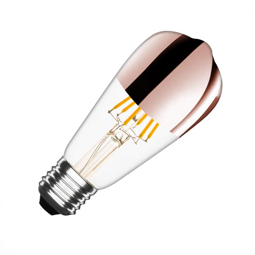 Bombilla LED E27 Regulable Filamento Copper Reflect Big Lemon ST64 7.5W