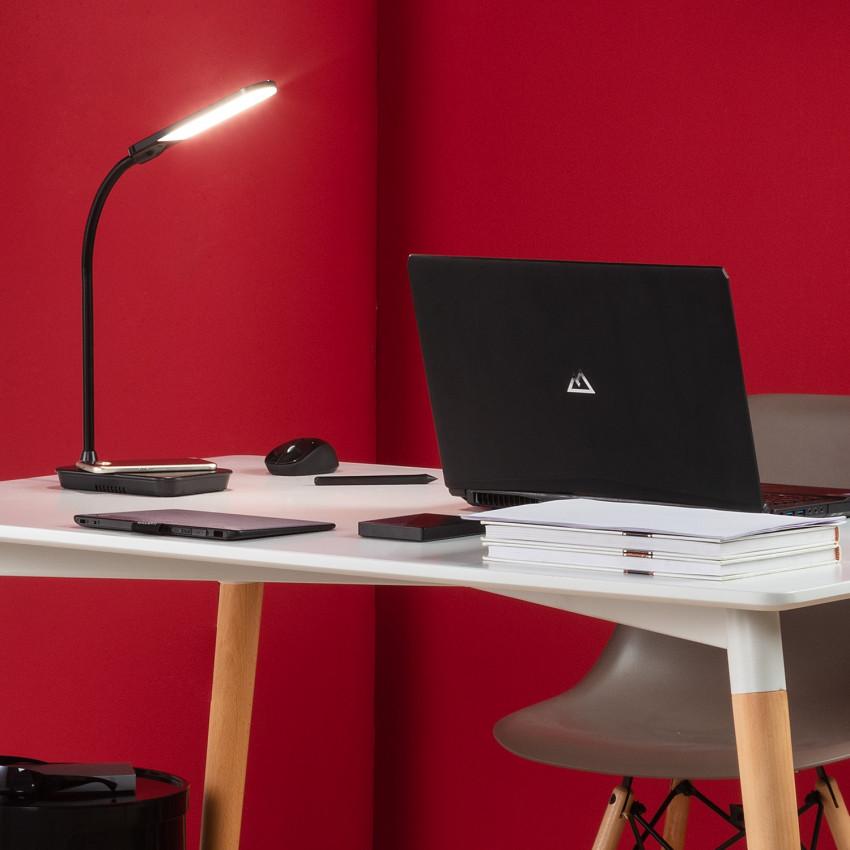 Flexo LED Boga 5W Regulable con Cargador Inalámbrico